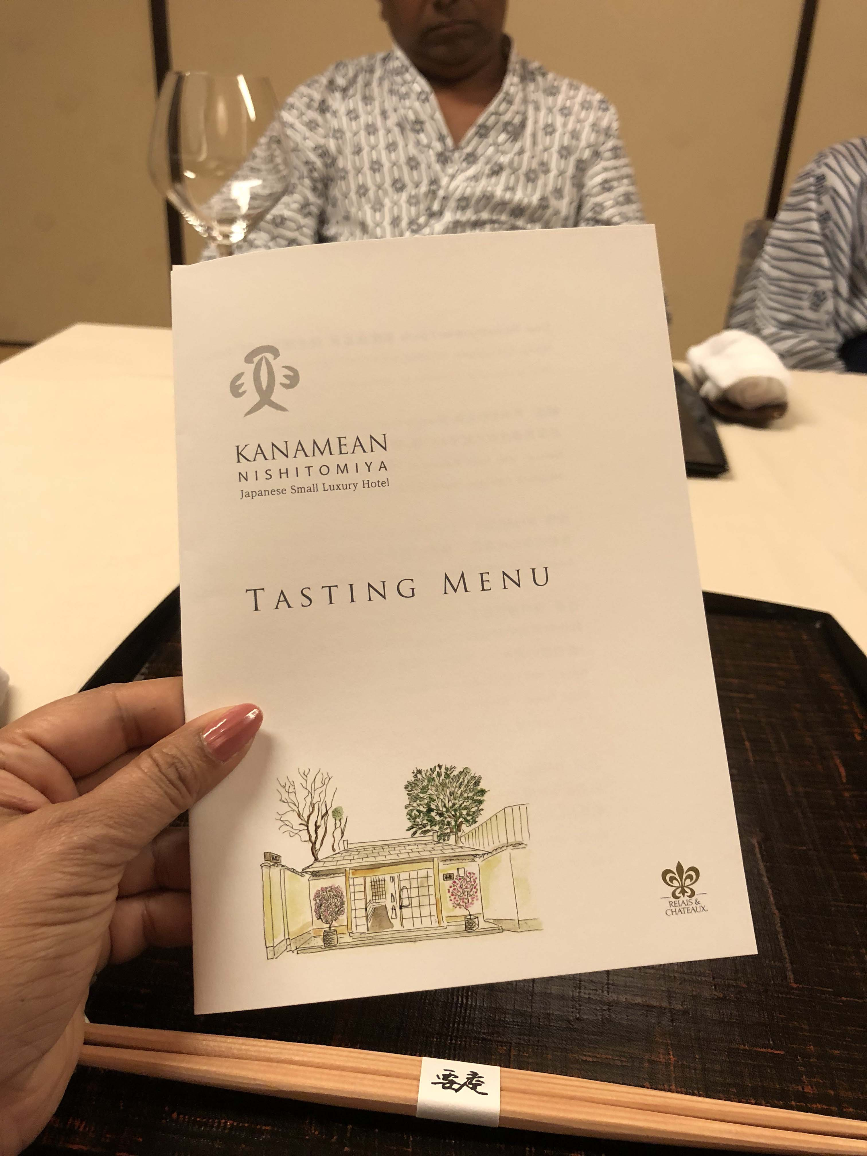 What is a Kaiseki Meal? Kaiseki meal is a seasonal tasting menu. We enjoyed one of these meals in Kanamean Nishitomiya when we were in Kyoto, Japan- Photo by Outside Suburbia