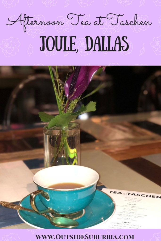 From brunches to lovely shopping experiences, there are lots of things to do in Dallas to celebrate Mother's Day, but an afternoon tea is one of my favorite ways to celebrate. Tea at TASCHEN at Joule is a lovely way to celebrate mother's Day or any day really! #AfternoonTea #DallasThingsTodo #OutsideSuburbia