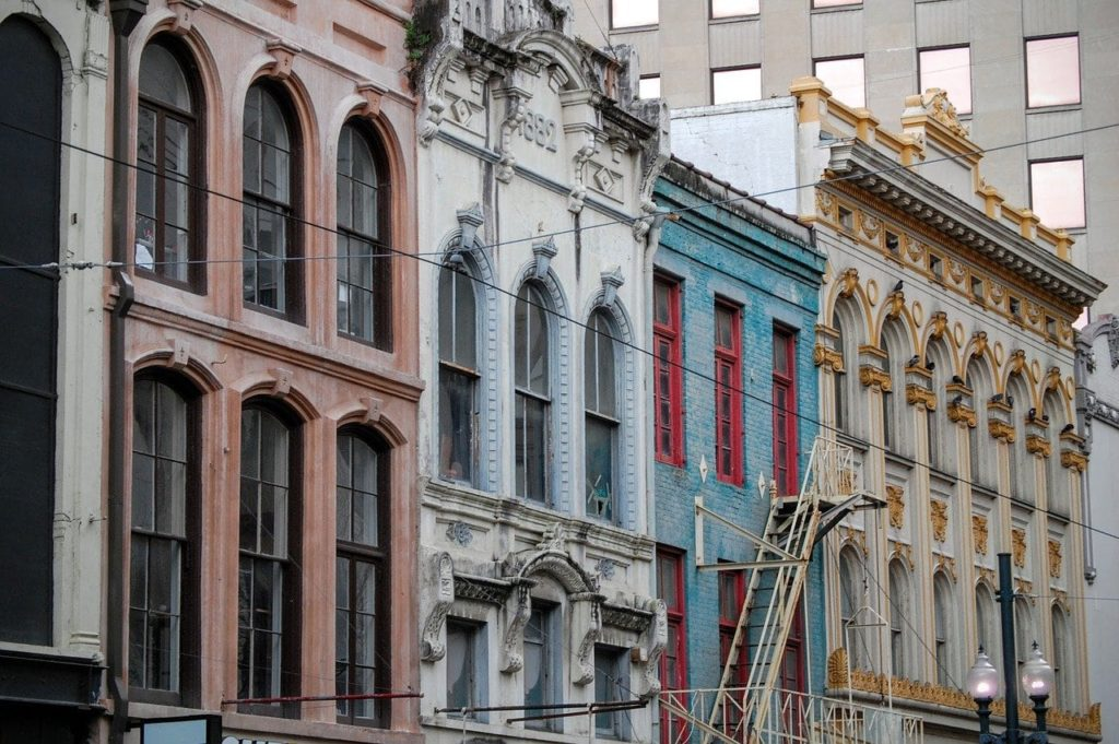 Colorful buildings in NOLA