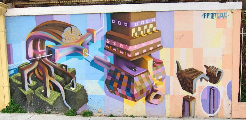 Street art in Valparaiso Chile #Valparaiso #streetart #Chile