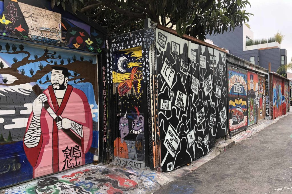 Best Street Art in San Francisco: Clarion Alley inMission District- Photo by Outside Suburbia