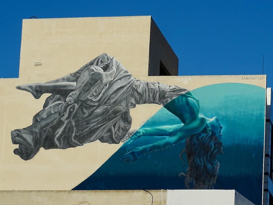 Mural in Paphos, Cyprus