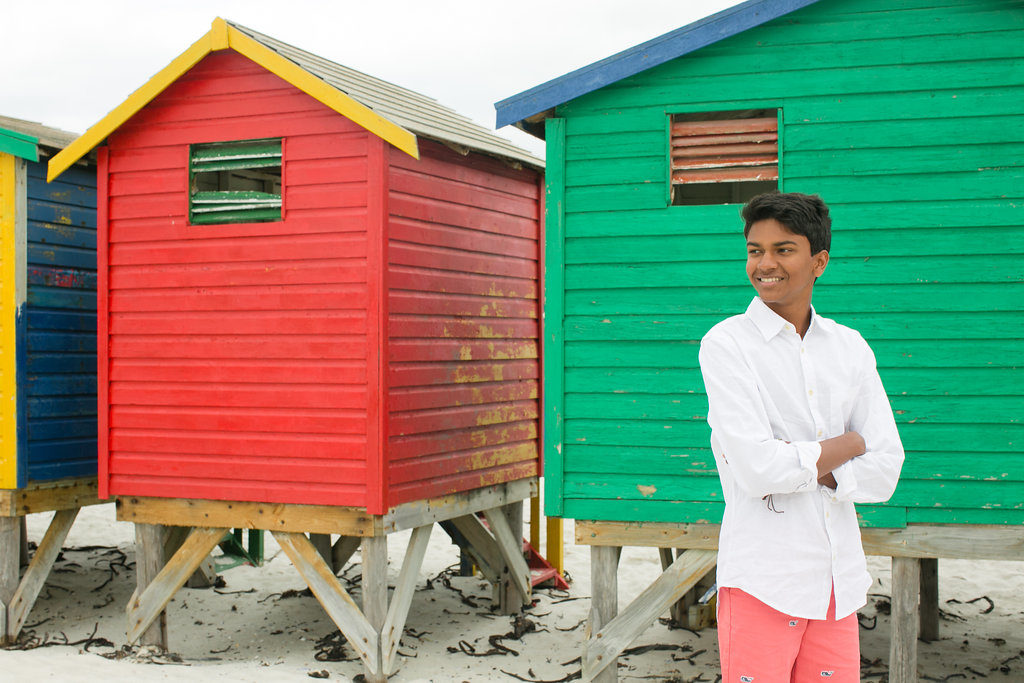 Muizenberg Beach Huts, Cape Town, South Africa