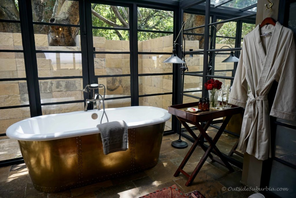 Bathtub setup - AndBeyond Bateleur Camp Masai Mara - Photo by Outside Suburbia