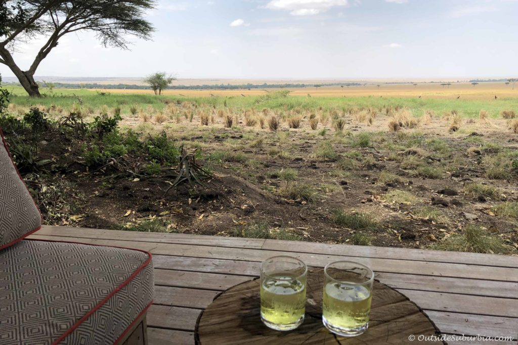Evening drinks! AndBeyond Bateleur Luxury Safari Camp Masai Mara, Kenya - Photo by Outside Suburbia