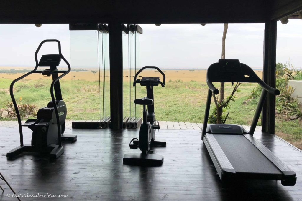 Workout with a view! AndBeyond Bateleur Luxury Safari Camp Masai Mara, Kenya - Photo by Outside Suburbia