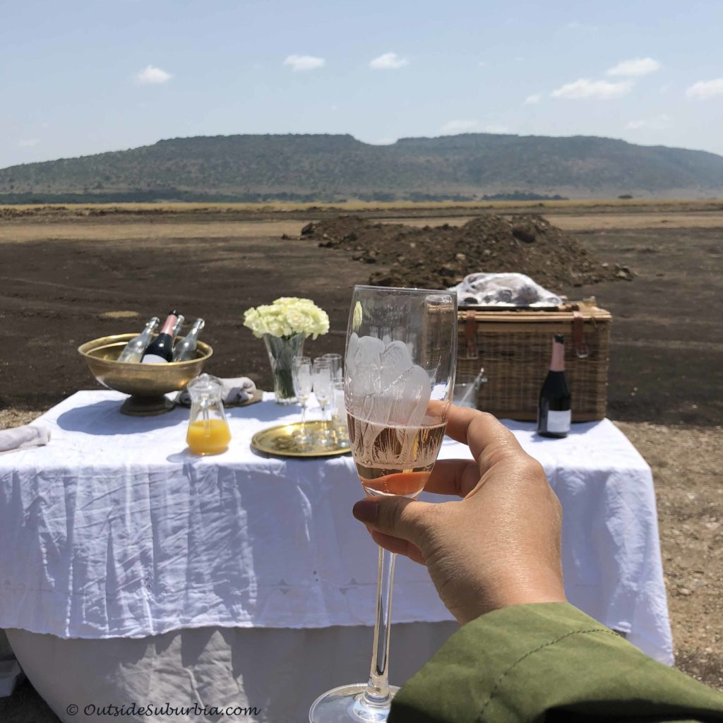Welcome drink! AndBeyond Bateleur Camp Masai Mara - Photo by Outside Suburbia