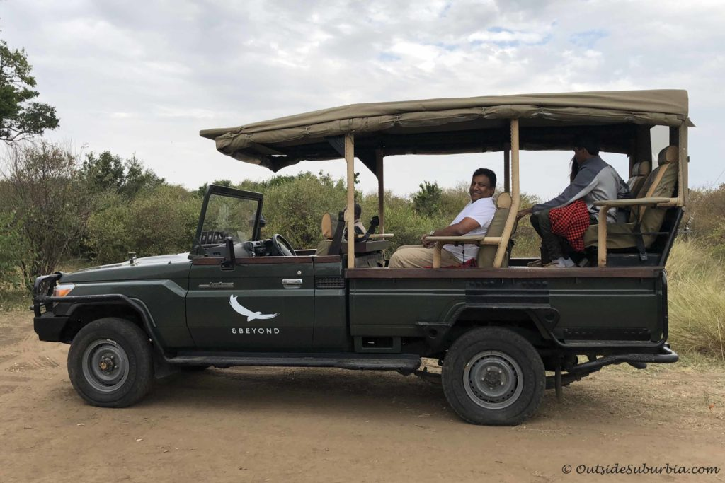 Safari vehicle! AndBeyond Bateleur Safari Camp Review Masai Mara, Kenya - Photo by Outside Suburbia