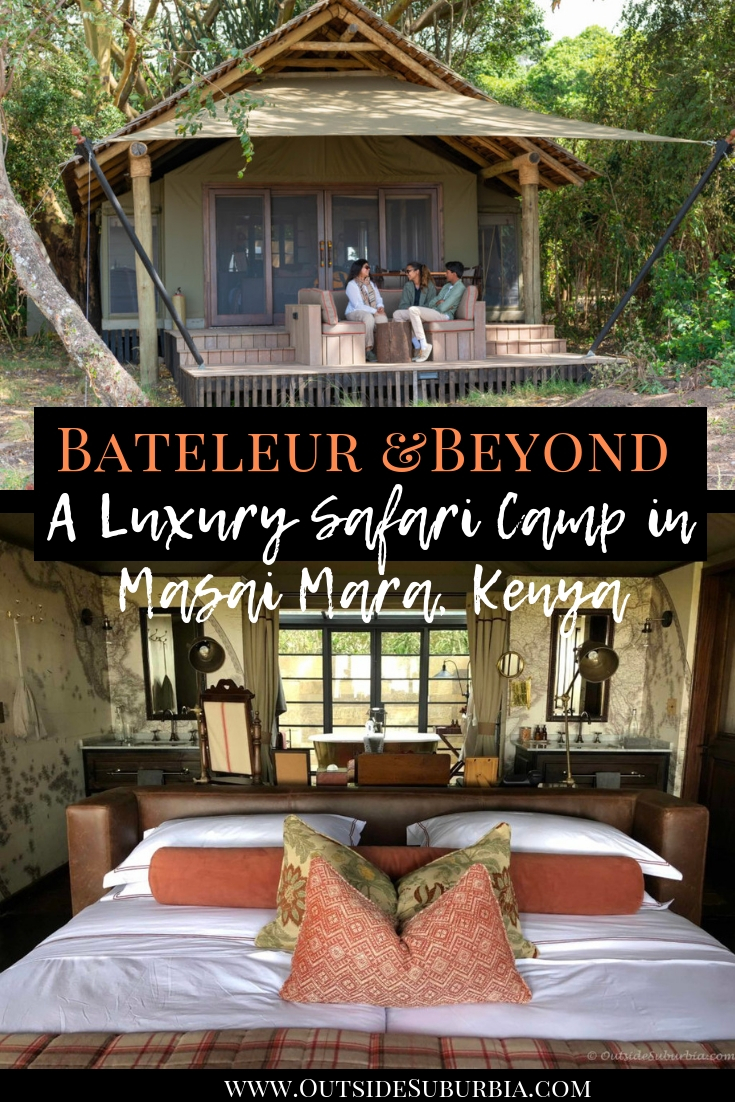 "Bateleur AndBeyond : A Bespoke Safari Camp overlooking the plains of the Masai Mara, Kenya where the response to every request was ""Hakuna Matata"" - No worries or No trouble. #OutsideSuburbia #LuxuryFamilyTravel #LuxurySafariCamp #AfricanSafari #Kenya #MasaiMaraSafariCamp"