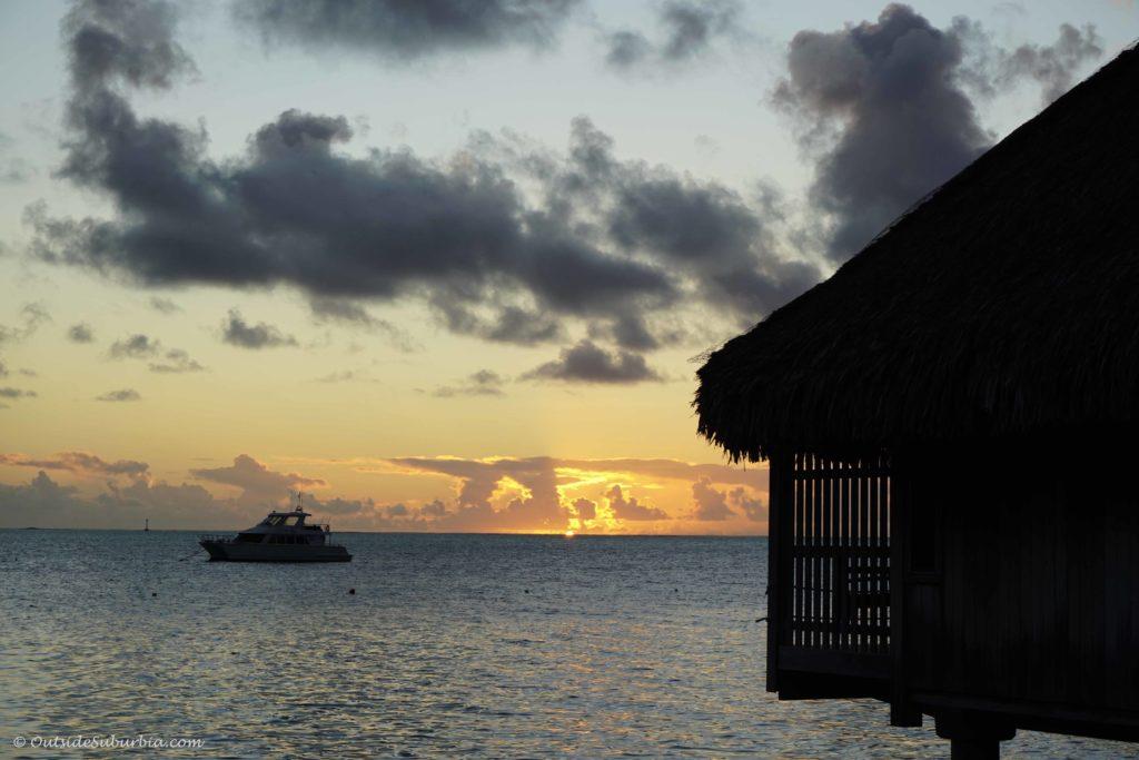 Sunsets in Bora Bora - OutsideSuburbia.com