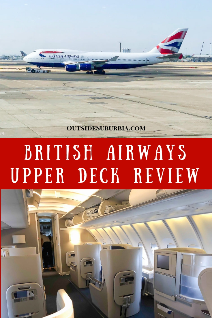 A spacious seat, which converts into a fully flat bed, delicious food and drink - a peek at how the Club level British Airways Upper Deck on Boeing 747-400. #BrithishAirwaysClubWorld #UpperDeck #AirlineReview