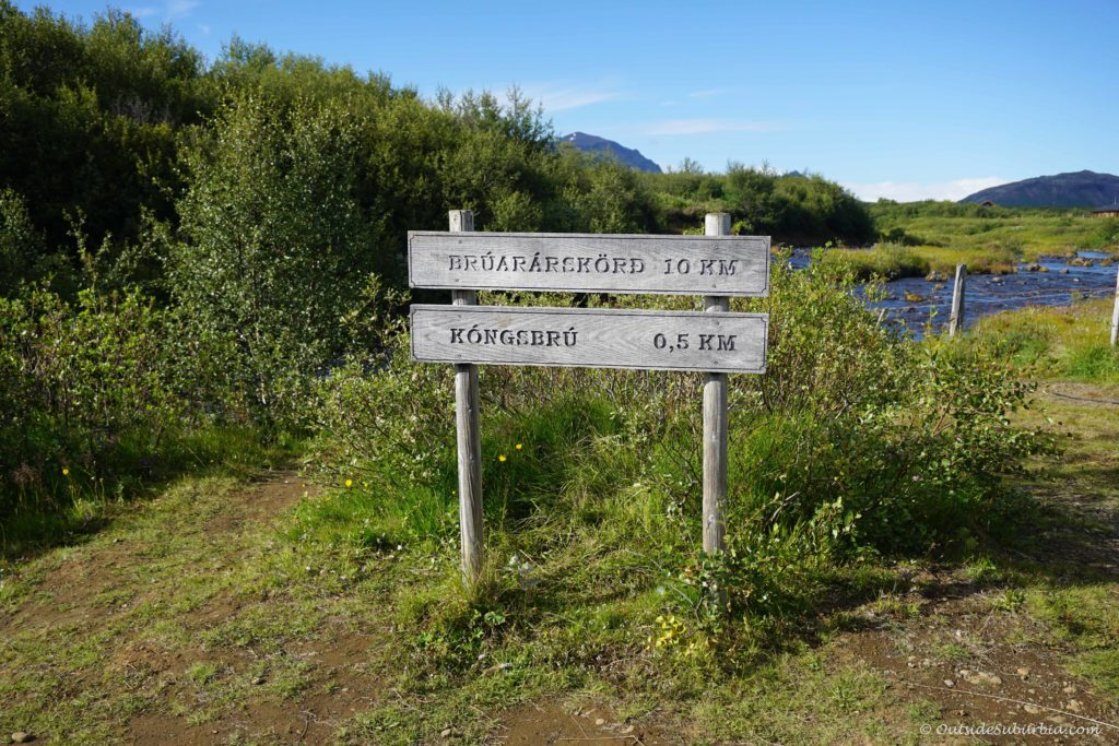 If you see this sign, you are on the right track to Iceland's Secret Waterfall - Bruarfoss