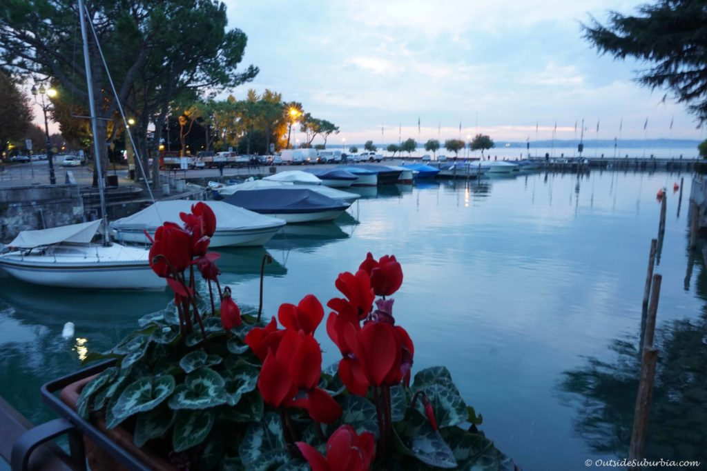 Northern Italy in November - Lake Garda at sunset - Photo by OutsideSuburbia.com