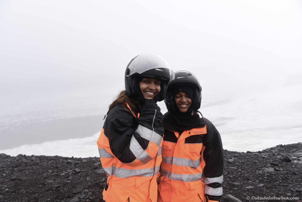 Snowmobile tour on Mýrdalsjökull glacier with Arcanum in Iceland #Iceland #Adventures