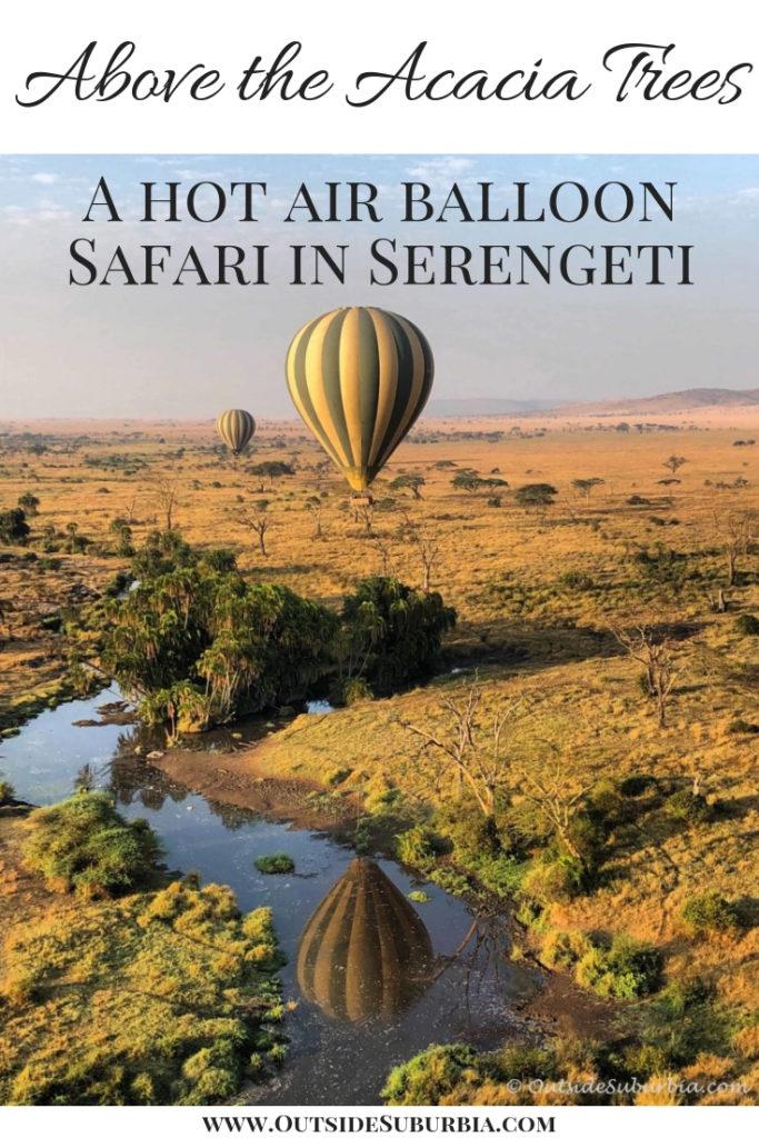 Hot air balloons in Serengeti