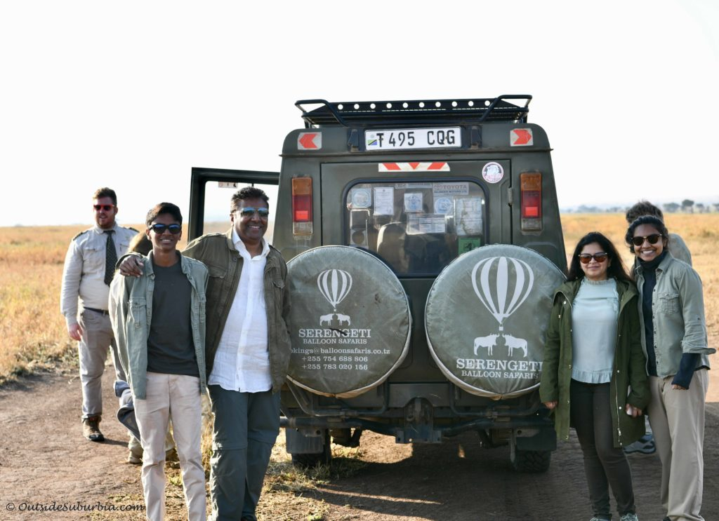 Hot air balloon safari in Serengeti #SerengetiBalloonSafari #Tanzania Photo by Priya Vin for OutsideSuburbia