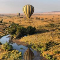 Hot air balloon safari in Serengeti #Serengeti Photo by Priya Vin for OutsideSuburbia