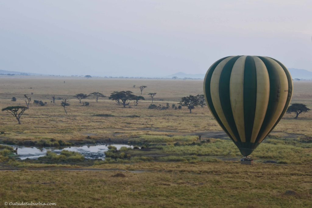 Hot air balloon safari in Serengeti #Serengeti Photo by Priya Vin for OutsideSuburbia