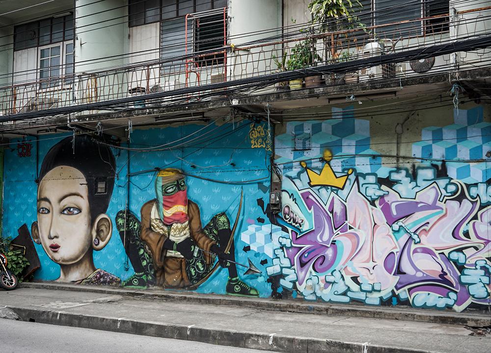 Street Art in Chiang Mai, Thailand