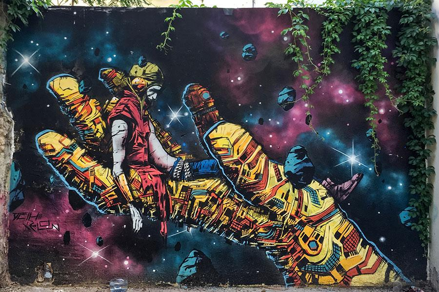 Street art Valencia Spain