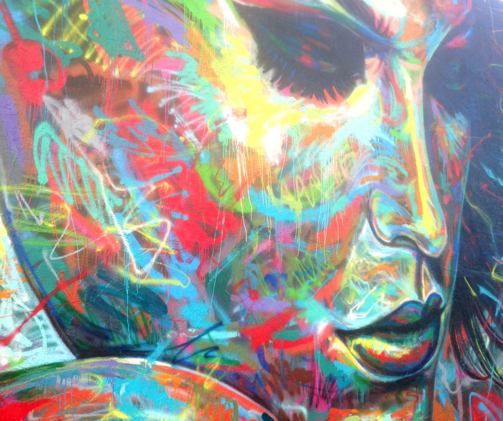 wynwood walls women's colorful face by eileen cotter wright