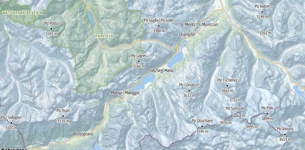 Map of Engadin - Outside Suburbia