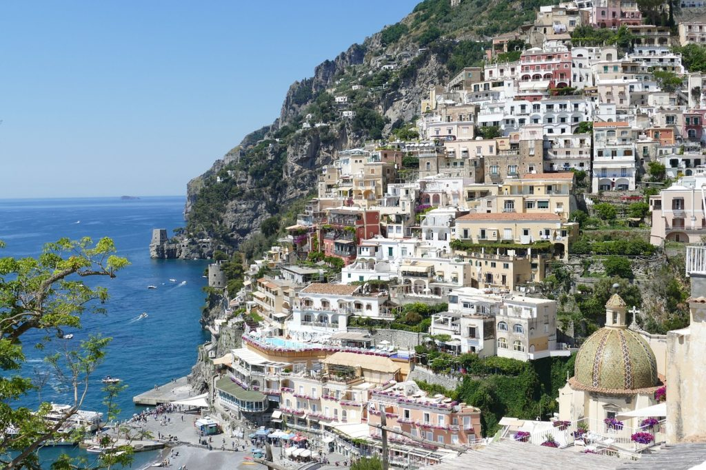 Amalfi, one of the gorgeous towns on the Amalfi Coast