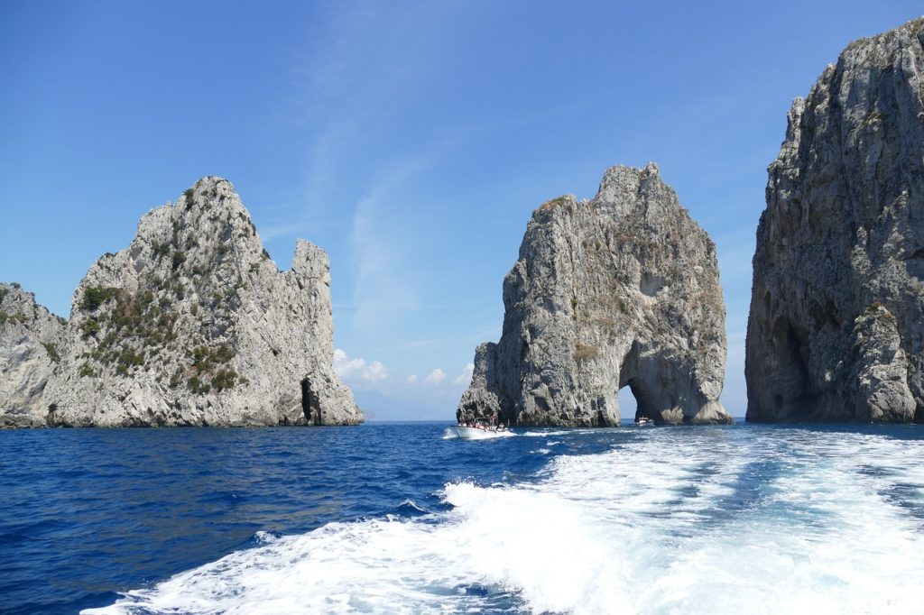 Sea stacks in Capri, Italy