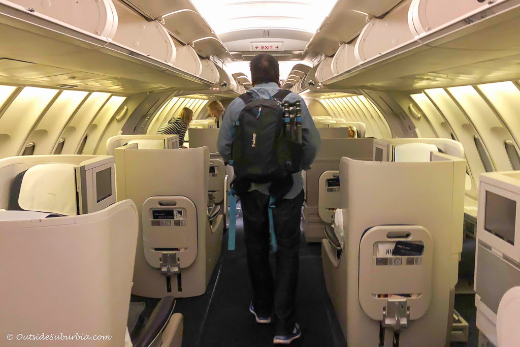 British Airways Upper Deck seats - outsidesuburbia.com