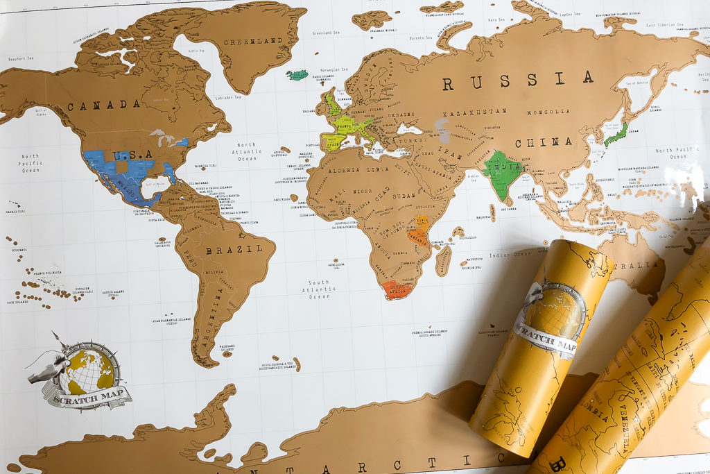 Scratch Map - 15 best gifts for travelers - OutsideSuburbia.com