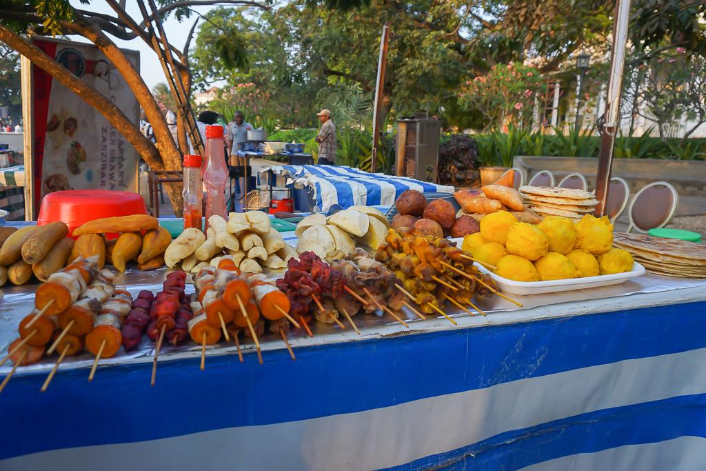 Street food at the Forodhani Market