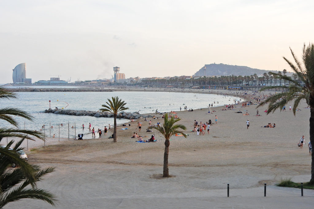 Barcelona Beach. Things to do in Barcelona with Kids Photo by Outside Suburbia