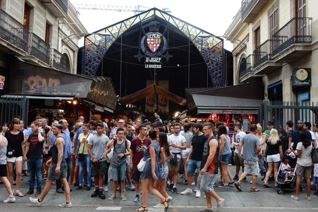 La Boqueria. Things to do in Barcelona with Kids Photo by Outside Suburbia