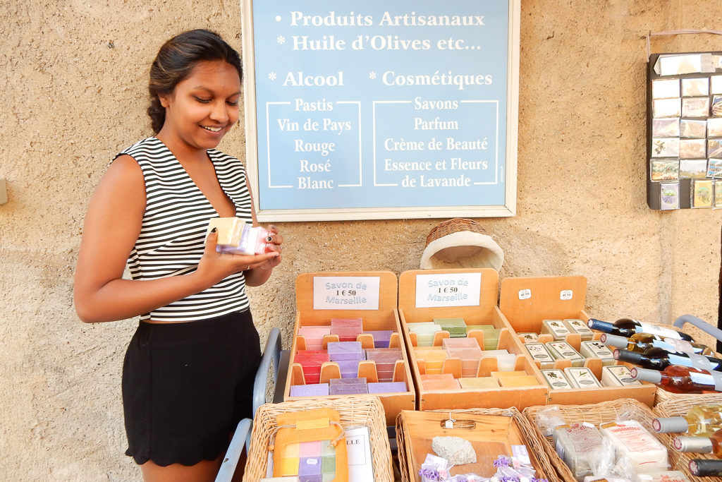Shopping for soap in Gordes - Provence Itinerary by Outside Suburbia