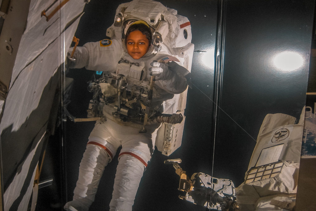 At the Space Center, in Houston