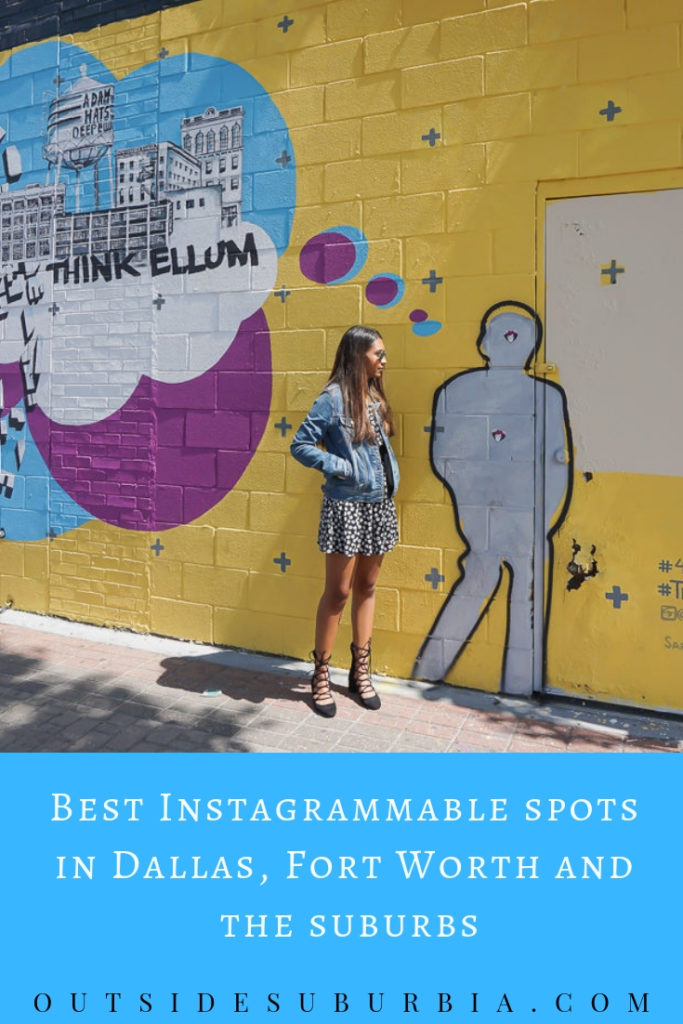Dallas has vibrant murals, neat architecture and cool sculptures making for some great photo ops.  So grab a camera or iPhone and let me show you around the best spots for pictures in Dallas, Fort Worth and the suburbs. #Dallas #BestPlacesInDallasForPhotos #InstagramDallas #OutsideSuburbia