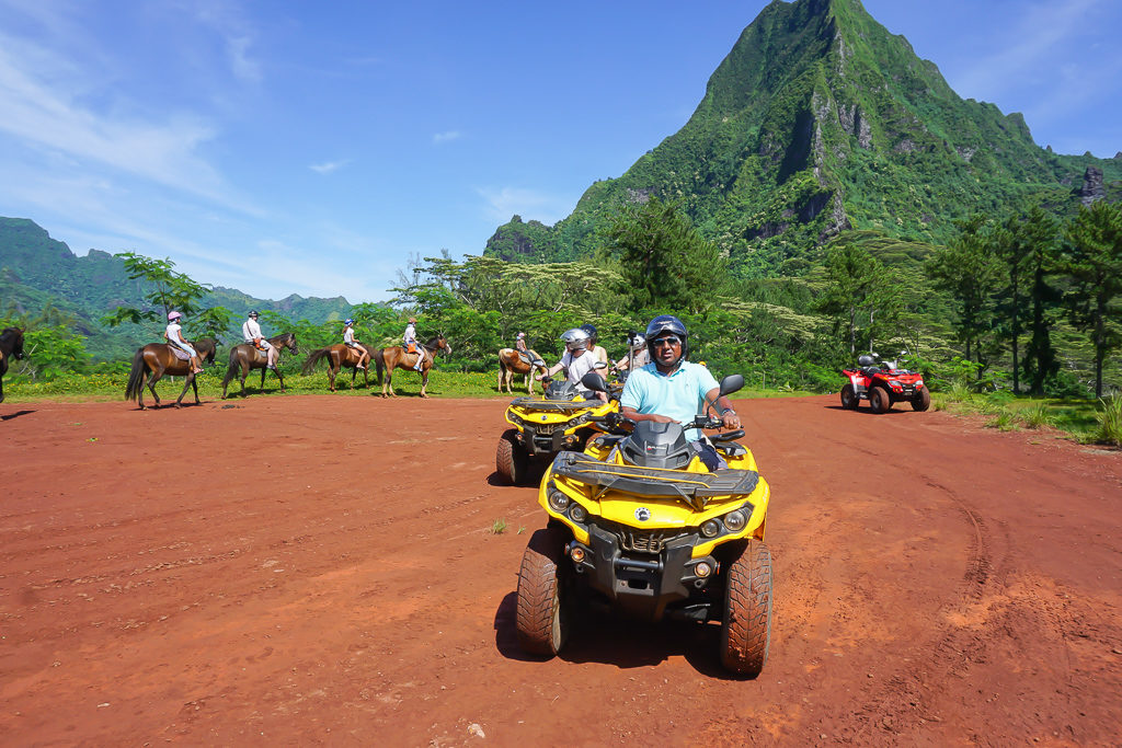 ATV tour in Moorea. Family Guide Tahiti Bora Bora Moorea #BoraBora #Tahiti #FamilyGuide Photo by Outside Suburbia