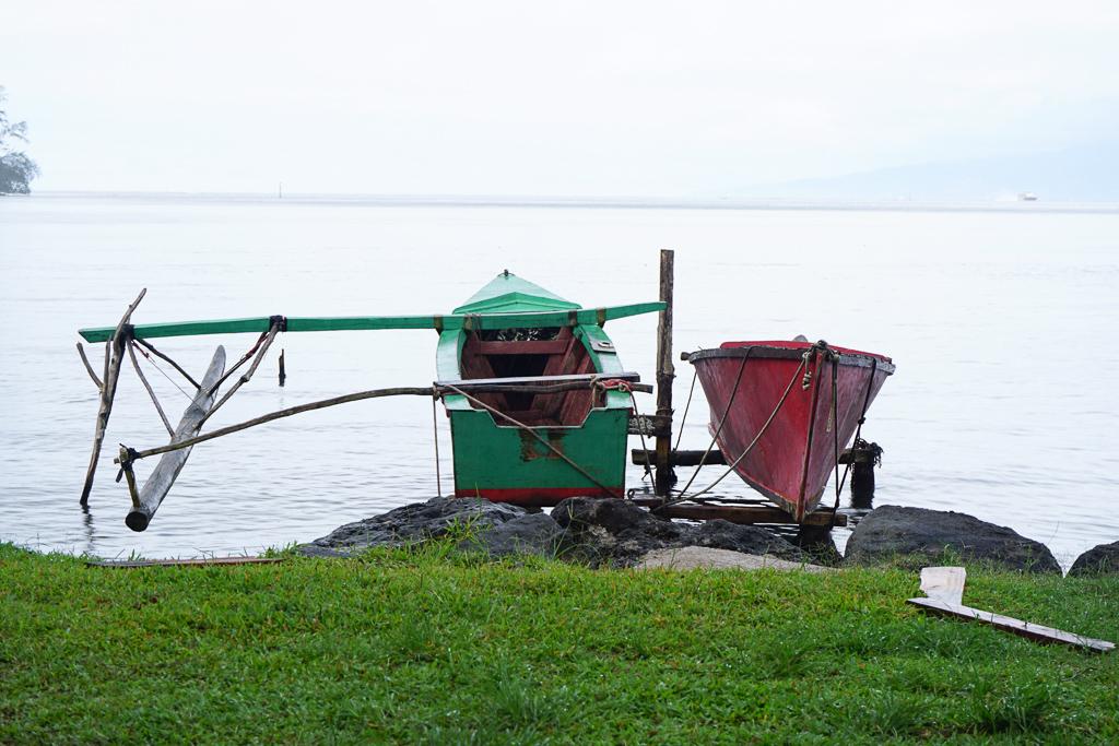 Vaa boats - Moorea Island Drive - Photo by Outside Suburbia