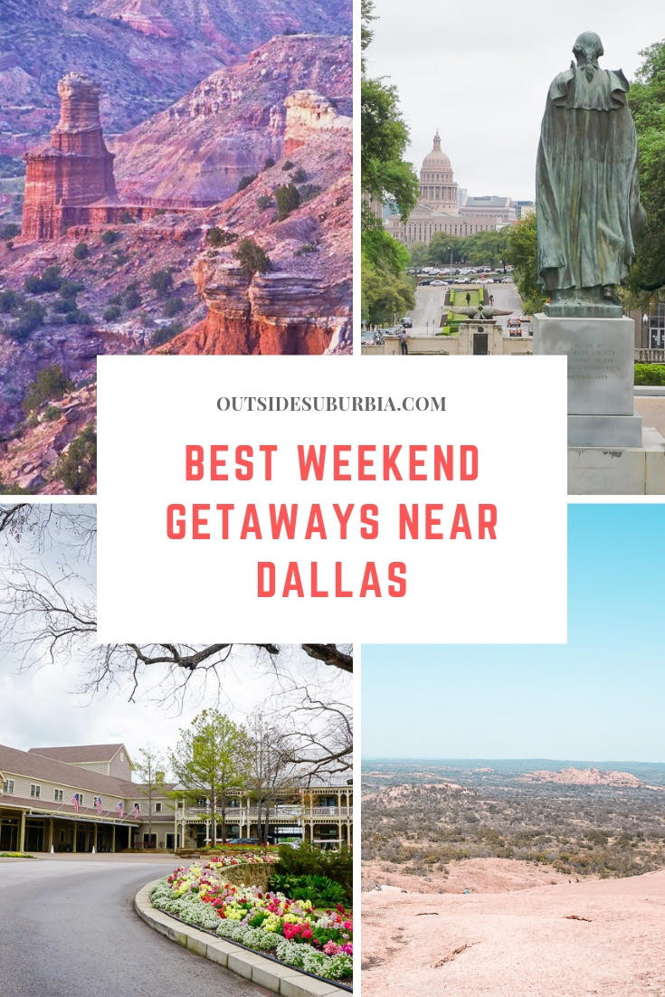 Dallas is many hours from nice beaches, national parks and the mountains, but there are still plenty of choices for a Texas weekend getaway. Read this before planning your trip... #TexasRoadtrips #GetawaysNearDallas #OutsideSuburbia