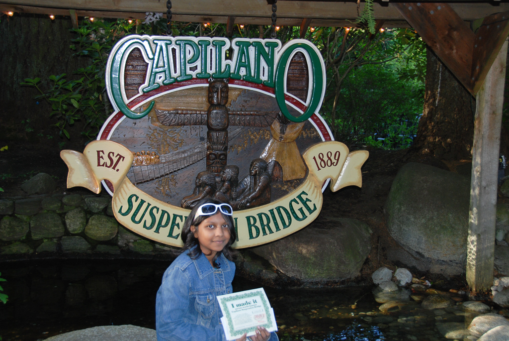 Walk on the Capilano Bridge in Vancouver. One of the fun things to do in with Kids in Vancouver Photo by Outside Suburbia