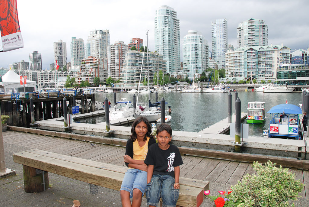 Take the aquabus to Ganville Island when visiting vancouver. One of the fun things to do in with Kids in Vancouver Photo by Outside Suburbia