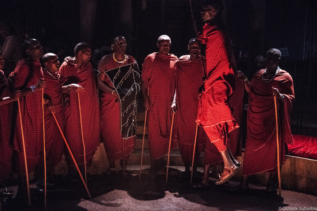 Traditional Massai Dance at a Boma Dinner. Four Seasons Safari Lodge Serengeti Review - Photo by Priya, Outside Suburbia