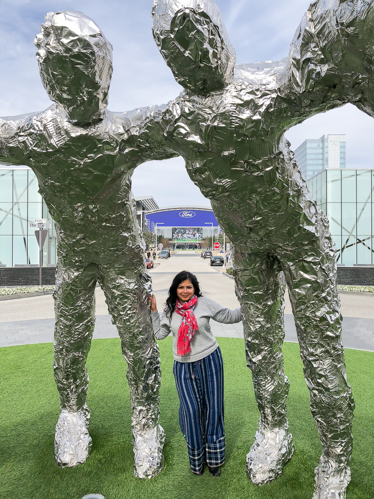 Huddle Sculpture at the Star, Frisco, Texas Photo by Outside Suburbia