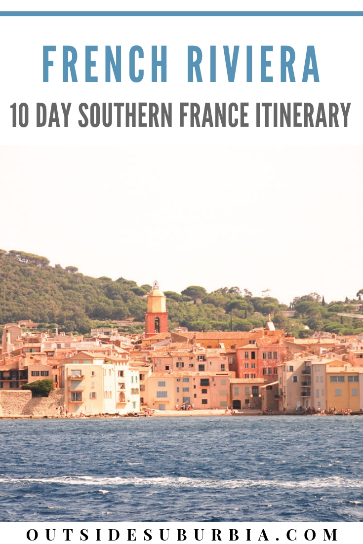 So you have been to Paris a few times but can you really check France off your list if you haven't visited Southern France? See this 10 day Provence and French Riveria Itinerary to plan a trip to see the lavender fields of Provence, the glitz and glamour and the coastal towns of Cote d'Azur. #ProvenceItinerary #FrenchRivieraRoadTrip #SouthernFranceItinerary #OutsideSuburbia #FranceRoadTrip