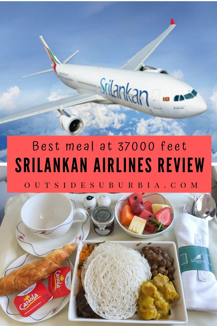It is an experience of comfort and traditional SriLankan hospitality and warmth, not to mention the best meal ever at 37000 feet on SriLankan Airlines. See what you get for a business class flight ticket. #AirlineReview #OutsideSuburbia #SriLankanAirlines