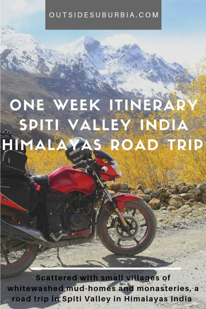 With smallvillages of whitewashed mud-homes and monasteries, a road trip in Spiti should be on you India travel plans. See this One week Itinerary for visiting Spiti Valley Road Trip India