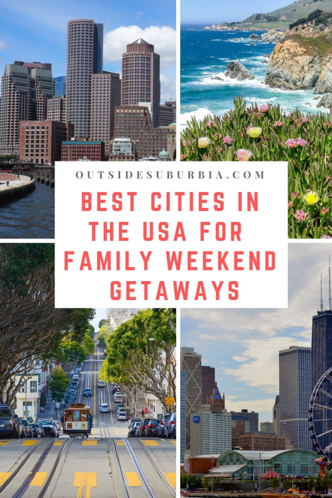Weekend Getaway Ideas for a short break in some of the Best US Cities. With direct flights and access to loads of kid friendly activities - there areplenty of cities to visit in the USA for a family weekend getaway. See this post for a few ideas... #USACities #USABucketlist #FamilyWeekendGetaways #OutsideSuburbia #BestUSCities