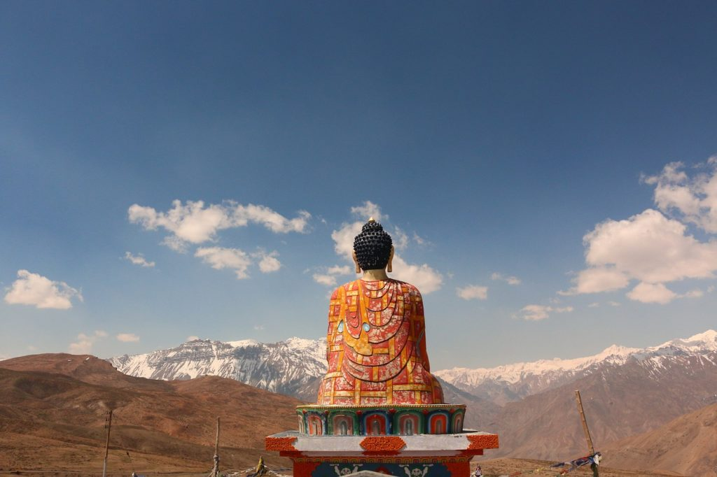 Buddha Statue, Langza village, Spiti Valley, India - Outside Suburbia