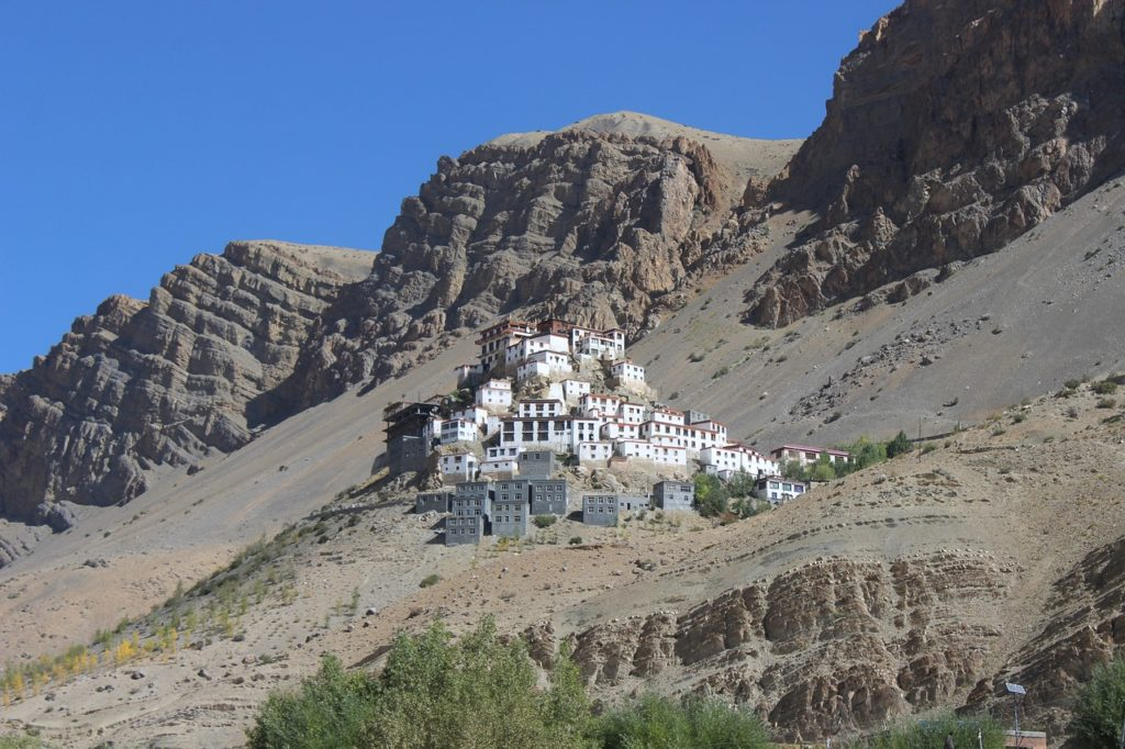 Kye Gompa (Key Monastery) a Tibetan Buddhist monastery located in the Spiti Valley, India - Outside Suburbia
