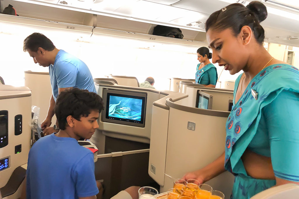 SriLankan Airlines Business Class Review - Photo by Outside Suburbia